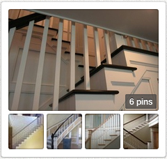 Open interior stairs pin board in new tab